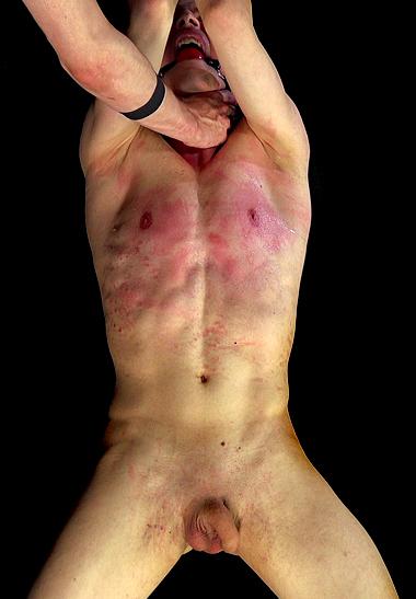 Hung Slave Boy Blake Ellis Stays Hard While Being Whipped